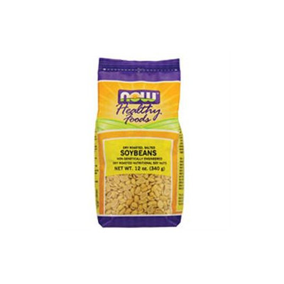 Now Foods, Dry Roasted & Salted Soybeans 12 oz