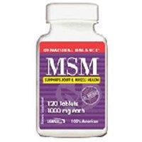MSM, 1000 mg, 120 Tablets, Natural Balance