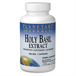 Planetary Herbals Holy Basil Extract - 450 mg - 8 Capsules