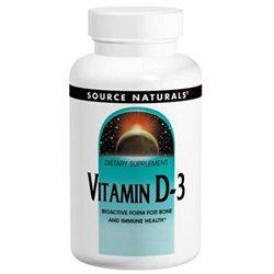 Source Naturals Vitamin D-3 - 1000 IU - 200 Softgels