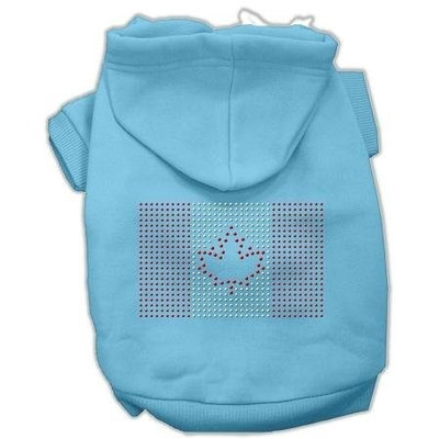Mirage Pet Products 5417 MDBBL Canadian Flag Hoodies Baby Blue M 12