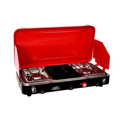 Texsport High Output Dual Burner Piezo Igniter Propane Stove/Grill