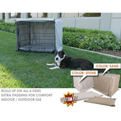 Animated Pet Crate Cover and Pad for Midwest Select 3-Door Crate Depth: 42