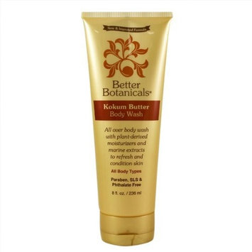 Better Botanicals Kokum Butter Body Wash, 6 Ounce Tube