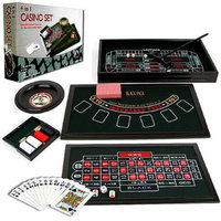 Trademark Poker 4 in 1 Casino Game Table Roulette