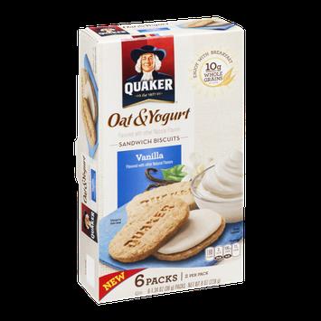 Quaker® Oat & Yogurt Sandwich Biscuits Vanilla