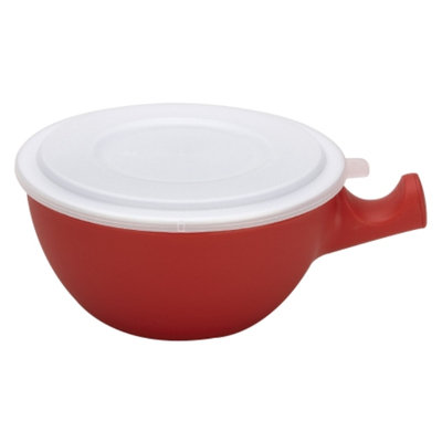 Good Cook Microwave Bowl W/Caddy & Lid, Red, 1 ea
