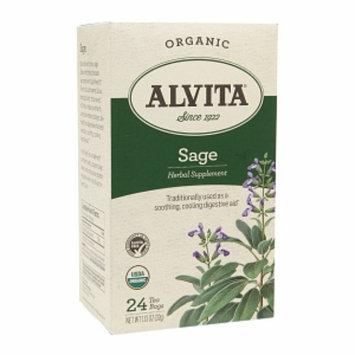 Alvita Teas Sage Tea Organic 24 Tea Bags