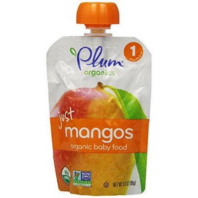 Plum Organics Baby Just Fruit, Mangos, 3.5 Ounce Pouches (Pack of 12)