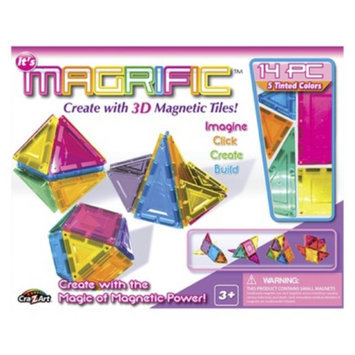 Cra-Z-Art Magrific 14 piece Magnetic Tiles - Pink