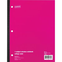 Staples® Wireless Notebook, College Ruled, 8-1/2
