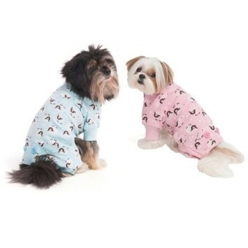 Fashion Pet Lookin' Good Lamb Print Dog Pajamas - Pink: Small - (Fits