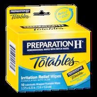Preparation H Totables Irritation Relief Wipes - 10 CT