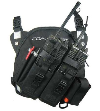 COAXSHER RP201 DR-1 Commander, Dual Radio, Chest Harness