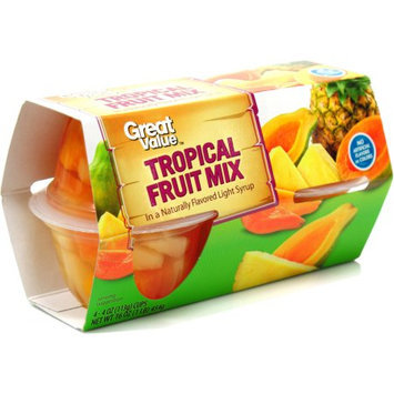 Pacific Coast Producers Great Value Tropical Fruit Cups, 4 ct, 16 oz