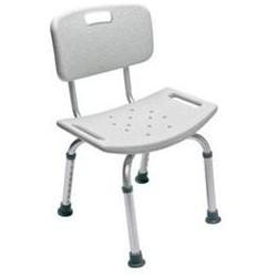 Lumex Platinum Collection Bath Seat With Backrest, Unassembled, Gray, 3/cs