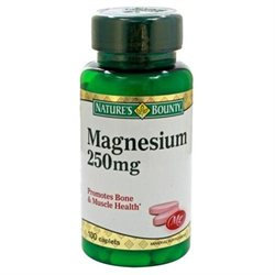 Natures Bounty Magnesium 250 mg, 100 caplets