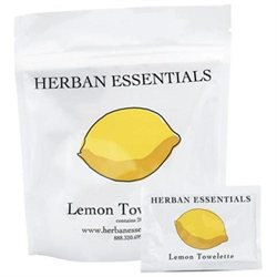 Herban Essentials Lemon Towelettes, 20 towelettes