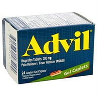 Advil 200 mg Gel Caplets 24 Count