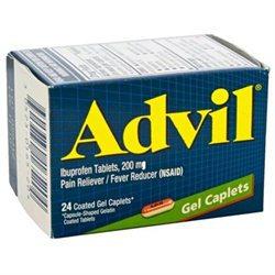 Advil 200 mg Gel Caplets 24 Count