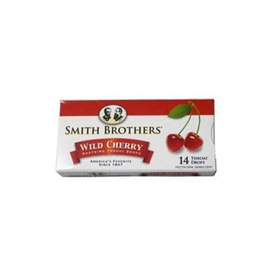 Smith Brothers Throat Drops, Wild Cherry, 14 drops