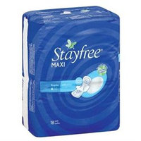 Stayfree Maxi Pads, Regular, 18 pads