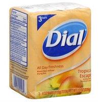 Dial Antibacterial Soap, Tropical Escape, 3 - 4.5 oz bars