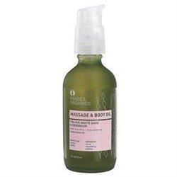 Pangea Organics, Massage & Body Oil, Italian White Sage With Geranium