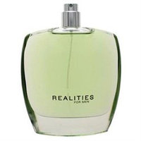 Realities for men 3.4 oz spray TESTER by Realities Cosmetics 8556A