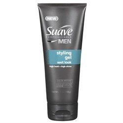 Suave Professionals Men Styling Gel, Wet Look
