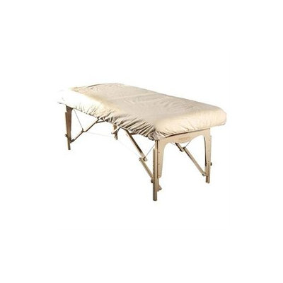 Sivan White Flannel-fitted Massage Table Cover