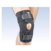 FLA Orthopedics FL37350LGBLK SAFETSPORT WrapAround Hinged Knee Brace Size Large