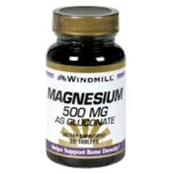 Magnesium Gluconate 500 mg, 90 Tablets, Windmill Health Products