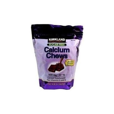Kirkland Signature Calcium Chews 500 mg with Vitamin D and Vitamin K Sugar Free