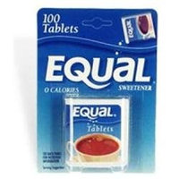 Equal artificial sweetener tablets - 100 Each