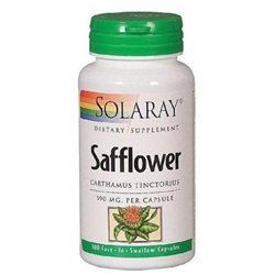 Solaray Safflowers (Carthamus Tinctorius) 390 MG - 100 Capsules - Omega 3 Fish Oil