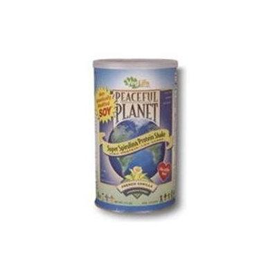 VegLife - Peaceful Planet Super Spirulina Protein Shake Unsweetened French Vanilla - 17.2 oz.