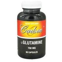 Carlson Laboratories L-Glutamine, 750 mg 90 capsules, Carlson Labs