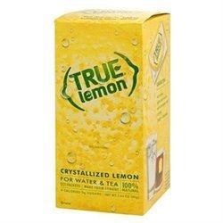 True Lemon 100% Natural Crystallized Fruit Wedge Dispenser Box 100 Packets