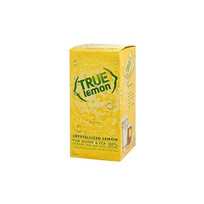 True Lemon 100% Natural Crystallized Fruit Wedge Dispenser Box 100 Packets