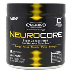 Muscletech Neurocore - Fruit Punch - .42 Pound Powder - Pre-Workout Formulas