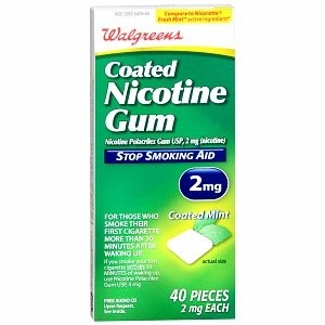 Walgreens Coated Nicotine Gum