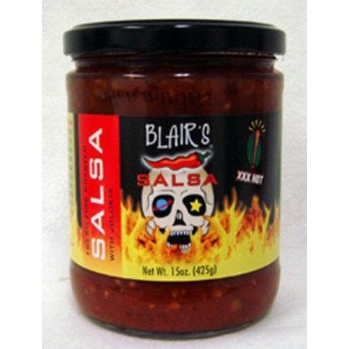 Xxx Hot Fresh Fire Roasted Tomato Habanero Salsa Blair's XXX Salsa with Jolokia