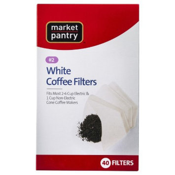 market pantry Market Pantry White Cone #2 Coffee Filters - 40 ct.
