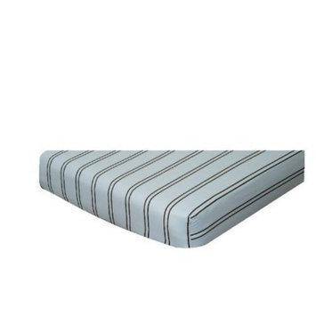 Go Mama Go Designs Blue & Chocolate Stripes Crib Sheet