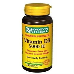 Good 'N Natural - Vitamin D3 Maximum Strength Once Daily Formula 5000 IU - 100 Softgels
