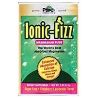 Pure Essence Labs - Ionic-Fizz Magnesium Plus Raspberry Lemonade Flavor - 30 Packets
