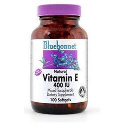 Bluebonnet Nutrition - Natural Vitamin E Mixed Tocopherols 400 IU - 100 Softgels