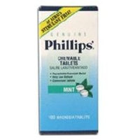 Genuine Phillips Phillips Milk Of Magnesia Tablets Mint - 100 Each