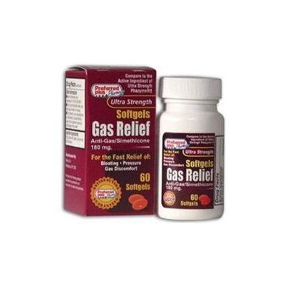 Phazyme Gas Relief Softgels 180 Mg, 60 Softgels